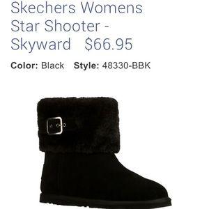 Skechers Star Shooter Skyward Fur-lined Boots NWT